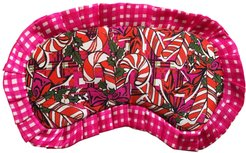 Silk Candy Cane Eye Mask With Frill