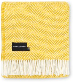 Evening Tales Pure New Wool Blanket - Yellow