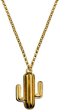 Large Gold Vermeil Cactus Necklace