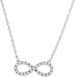 Diamond Infinity Necklace in 10k White Gold