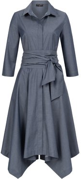 Laura Shirt Dress Blue With Two Belts