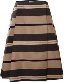 Reversible A-Line Side Pleated Skirt
