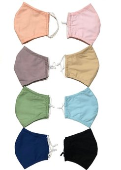 8 Pack 100% Organic Cotton Face Mask (W/ Filter Pocket)