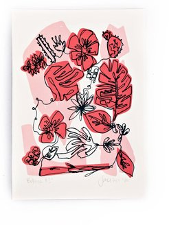 Pink Botanic Limited Edition Screen Print
