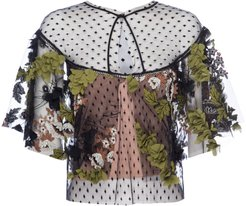 Robbie Dimensional Floral Lace Cape Top
