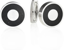 Aim Concrete & Surgical Steel Cufflinks Anthracite