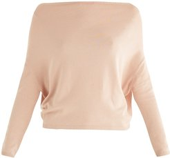 Zoey Off Shoulder Knitted Top In Blush