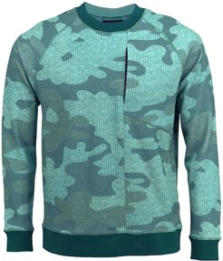 Jameson In Double Faced Chevron Camo Teal