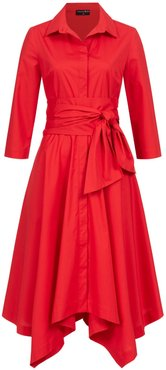 Laura Shirt Dress Red With Two Belts