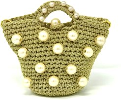 Small Pearl Glamour Bag with Pearl Embroidery