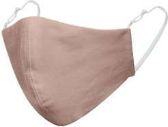 Dusty Coral Linen Cotton Face Mask With Filter Pocket