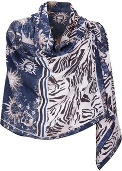 Silk Oblong Scarf - Mythical Jungle