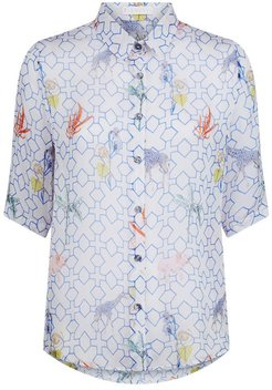 Mildred Shirt In Bamboo Print