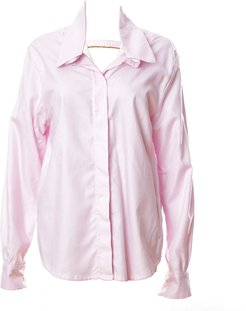 Oversized Shirt In Pink Cotton