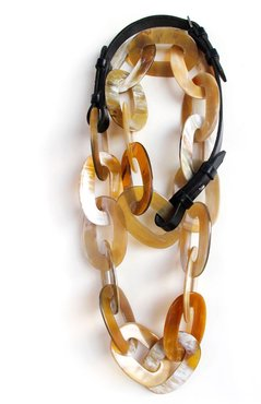 Chain No.2 Horn & English Bridle Leather
