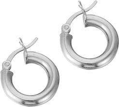 Sterling Silver 16Mm Thick Creole Hoops