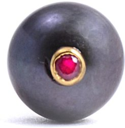 Peacock Pearl & Ruby Tie Pin