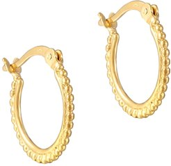 18Ct Gold Vermeil Dotted Creole Hoops