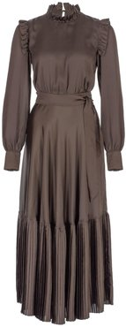 Long Sleeves With Volants Dress