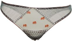 Brazilian knickers printed with lace details - Elephant