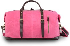 Zip Detail Water Repellent Holdall In Fuchsia