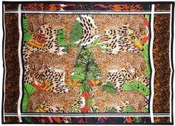 Silk Oblong Scarf - Hot Cheetah