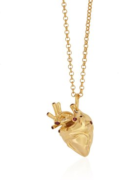 Heart Pendant Gold With Rubies