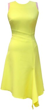 Adelle Dress Yellow & Pink Contrast