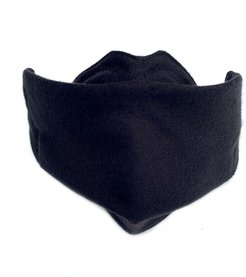 Face Mask Black Organic Cotton With Dwr