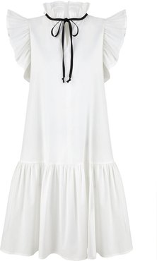 Angela White Cotton Dress