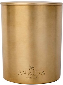 Allure Patchouli, Ylang Ylang & Magnolia Blossom Eco-Luxury Candle In Pure Brass Gold Finish