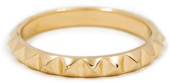 Debbie - Pyramid Spike Ring In 14K Yellow Gold