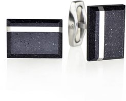 Falcon Steel Concrete & Surgical Steel Cufflinks Anthracite