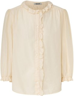 Carine Voile Shirt With Ruffles In Beige