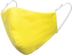 Lemon Yellow Linen Cotton Face Mask With Filter Pocket