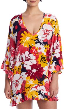 Wallflower V-Neck Cover-Up