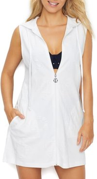 Sail Away Anchor Hooded Cover-Up