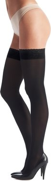 Chic Up Opaque Thigh Highs