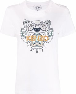 T-shirt con stampa in bianco - donna