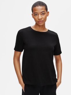 Organic Cotton Jersey Crew Neck Tee