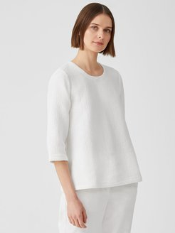 Textured Cotton Ripple Square Top