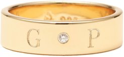 Ciela Band with Center Diamond in Gold Plated, Size 4