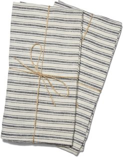 Boat Stripe Towels, Set Of 2 in White/Blue