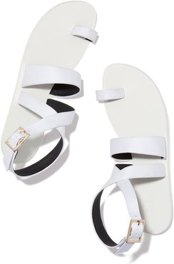 Hallie Sandal in Bright White, Size IT 36