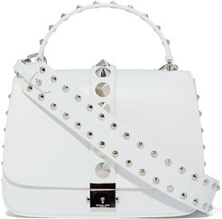Shoulder Bag with Top Handle in Optic White