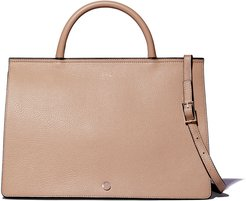 Grand Prism Leather Crossbody Tote Bag in Taupe