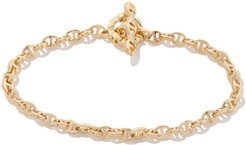 Open-Link Diamond Toggle Bracelet in Yellow Gold