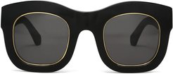 Hamilton Ring Sunglasses in Black