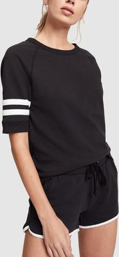 Track Shorts in Black/White, X-Small