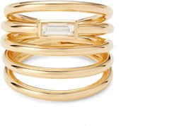 Helics Ring in Yellow Gold/Diamonds, Size 6.5